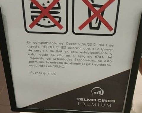 Es Legal Entrar Al Cine Con Comida De Fuera Jurista Enloquecido